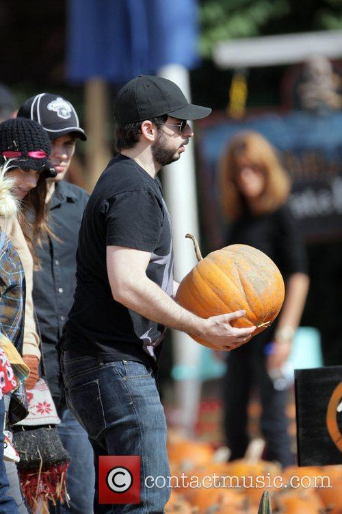 Takes his son Max to Mr Bones Pumpkin...