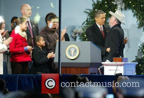 Malia Obama, Sasha Obama, Michelle Obama and President...