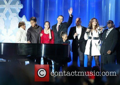 Marian Robinson, Michelle Obama, President Barack Obama, Malia...