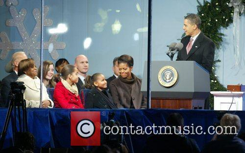 Marian Robinson, Malia Obama, Sasha Obama, Michelle Obama...