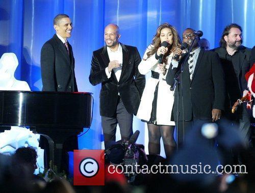 President Barack Obama, Jordin Sparks and Randy Jackson...