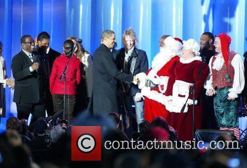 Randy Jackson and President Barack Obama The National...