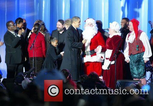 Randy Jackson, Sasha Obama, Barack Obama The National...