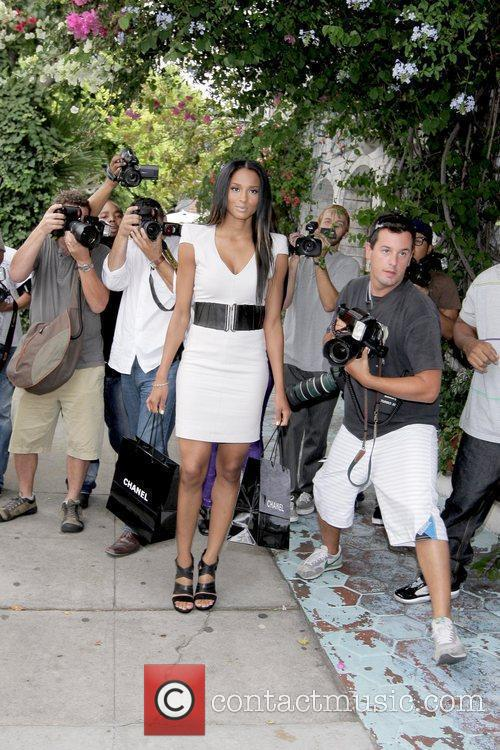 Ciara Surrounded By Photographers 5