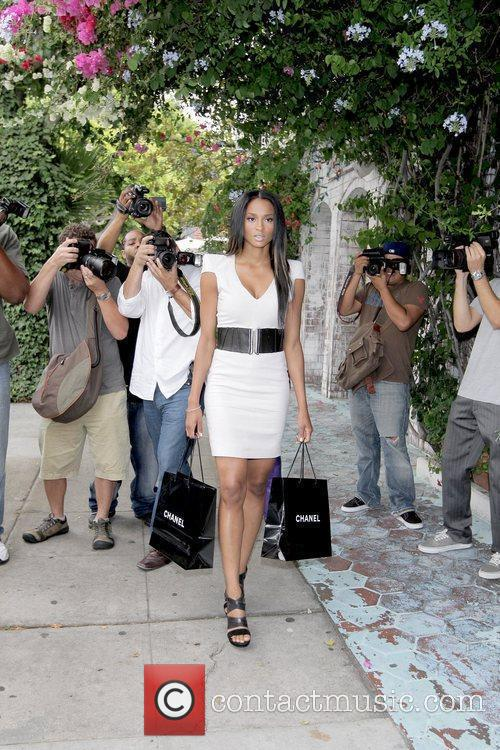 Ciara Surrounded By Photographers 4