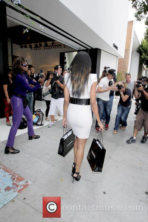 Ciara surrounded by photographers Ciara at a photo...