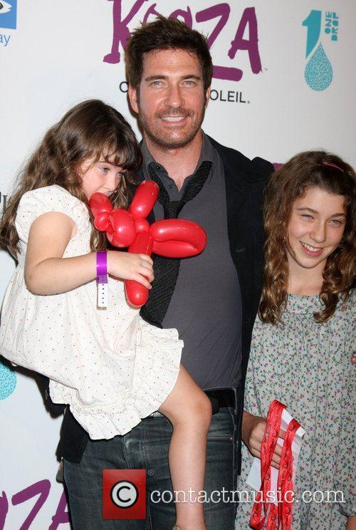 Dylan McDermott with his daughters Colette and Charlotte...
