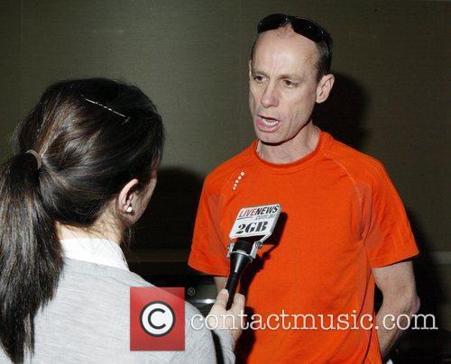 Australian marathon runner Steve Moneghetti Press conference held...