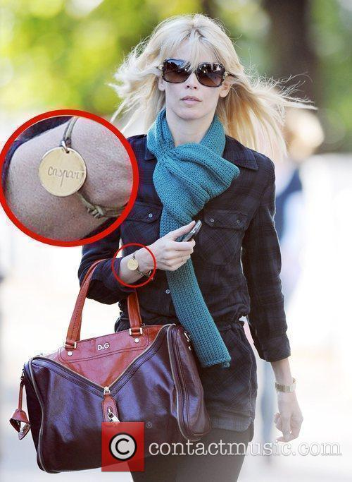 Claudia Schiffer makes her way home after dropping...