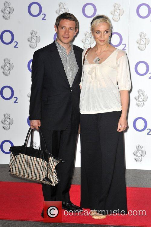 Martin Freeman and guest O2 Silver Clef Awards...