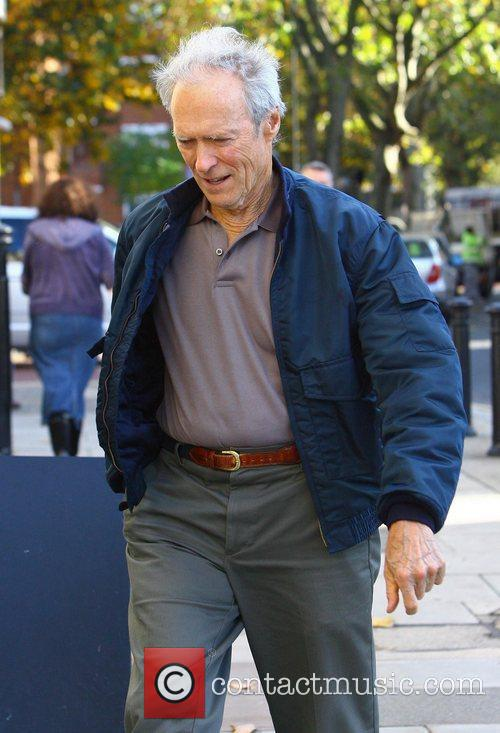 Director Clint Eastwood  on the set of...