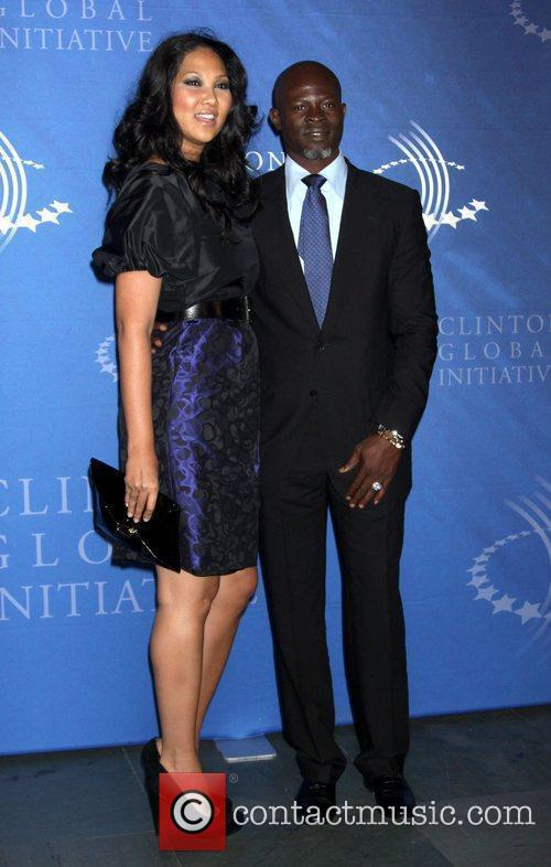 Kimora Lee and Djimon Hounsou The Fifth Annual...