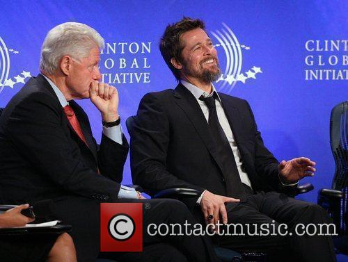 Bill Clinton and Brad Pitt 10
