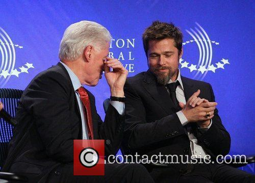 Bill Clinton and Brad Pitt 9