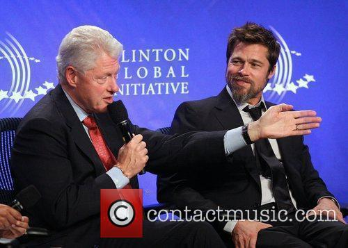Bill Clinton and Brad Pitt 1