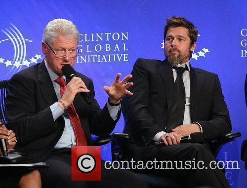 Bill Clinton and Brad Pitt 11