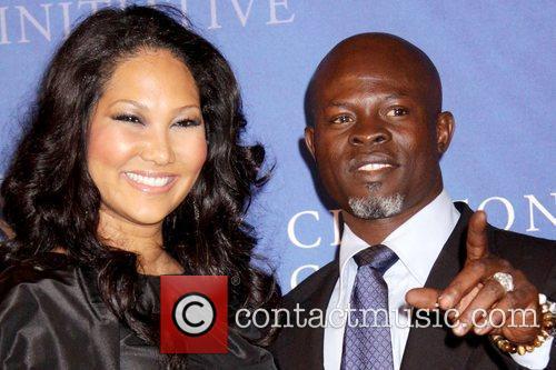 Kimora Lee Simmons and Djimon Hounsou Clinton Global...