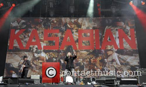 Kasabian Live at Heaton Park supporting Oasis. 06/06/09....