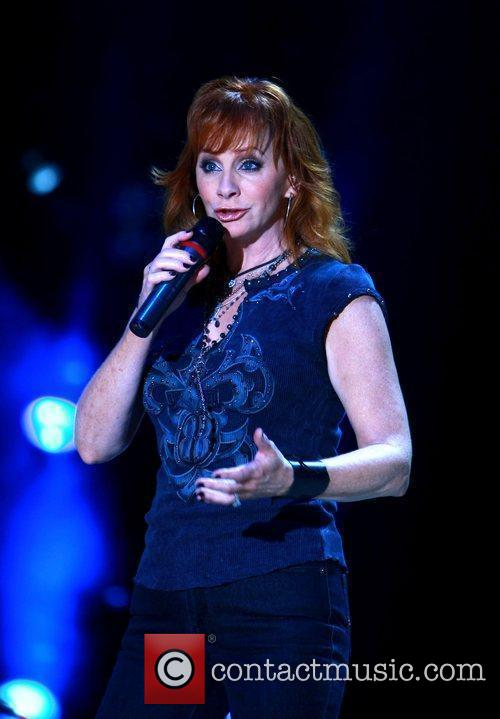 Reba McEntire performing live at LP Field as...