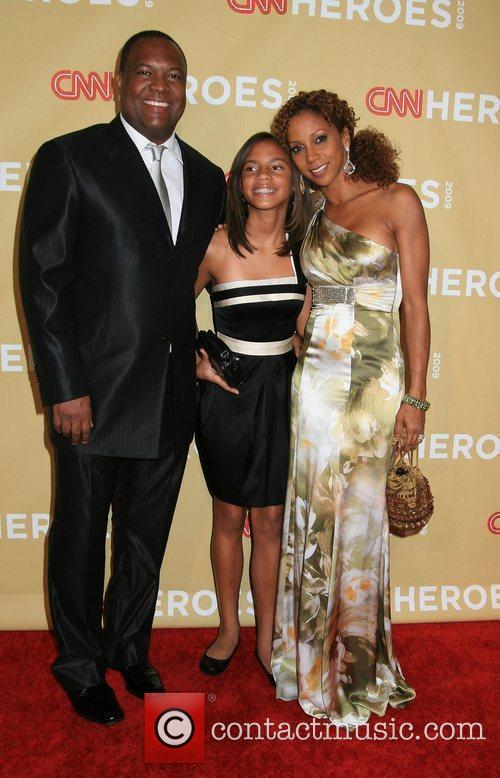 Holly Robinson Peete with Rodney Peete and daughter...