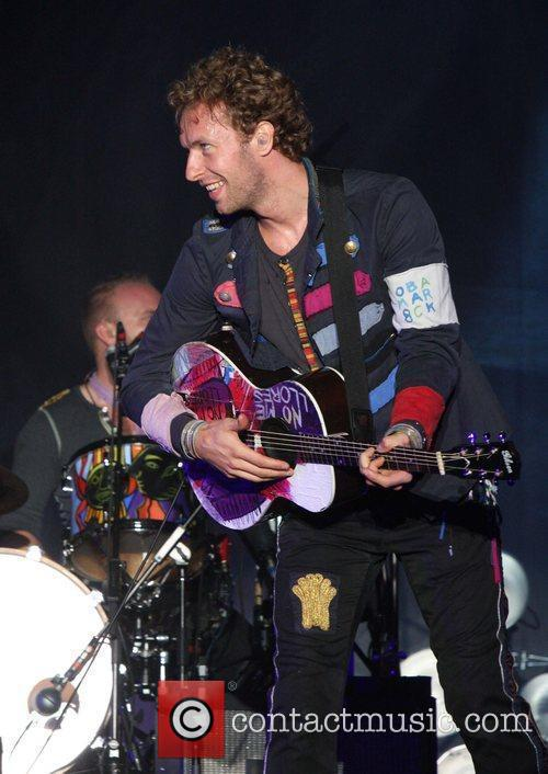Coldplay performing at All Points West in Liberty...