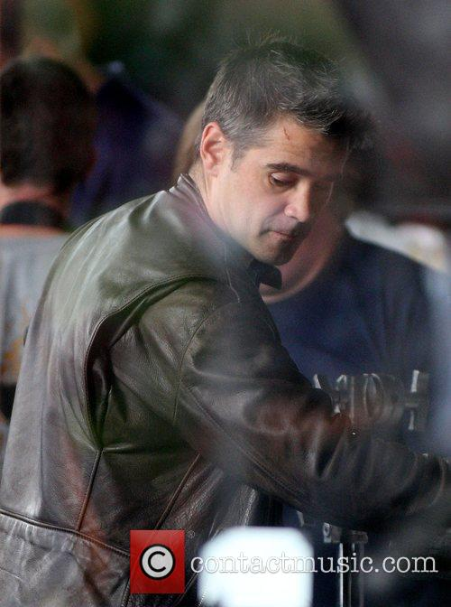 Colin Farrell on the set of his new...