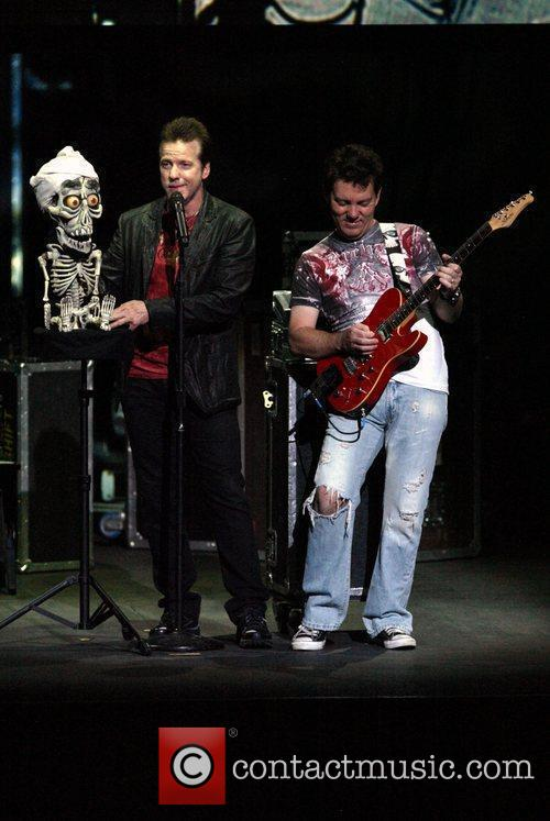 (l-r) 'Achmed the Dead Terrorist', Jeff Dunham and...