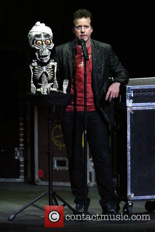 Comedian ventiloquist Jeff Dunham performing live in concert...