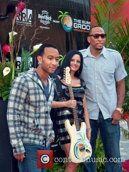 John Legend, Crystal and Shawn Marion 2