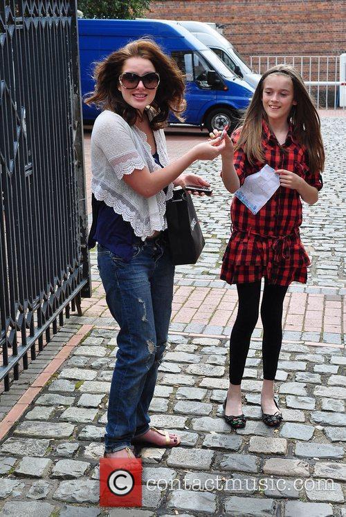 Helen Flanagan The cast of 'Coronation Street' arriving...