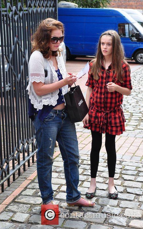 Helen Flanagan - The cast of 'Coronation Street' arriving ...  Helen Flanagan ...