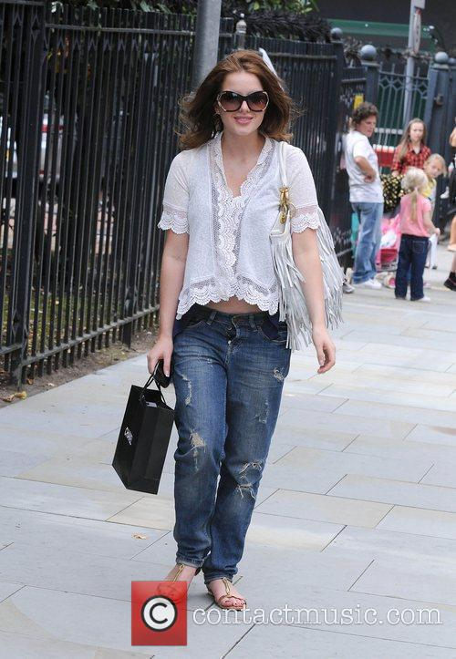 Helen Flanagan, with unbuttoned flies The cast of...
