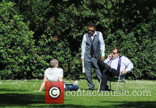 Craig Charles and Simon Gregson The cast of...