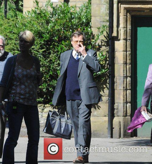 David Neilson The cast of 'Coronation Street' filming...