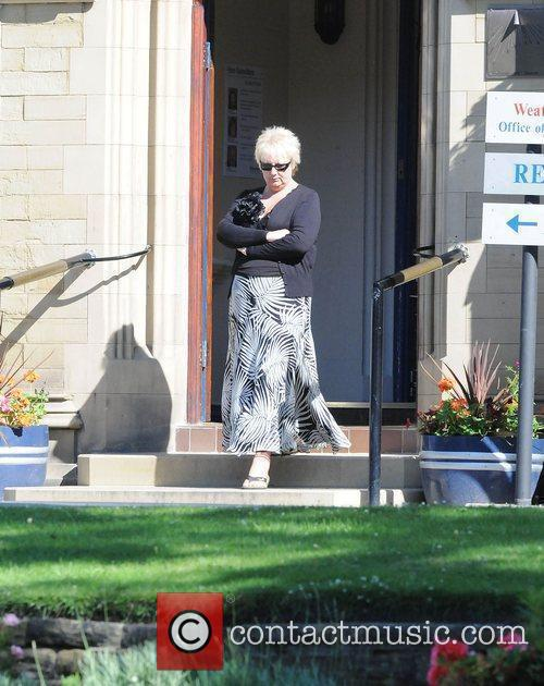 Sue Cleaver The cast of 'Coronation Street' filming...