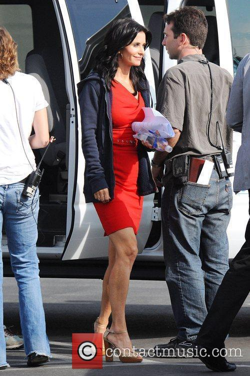Courteney Cox Arquette on the set of 'Cougar...