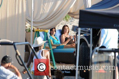 Courteney Cox seen on the set of her...