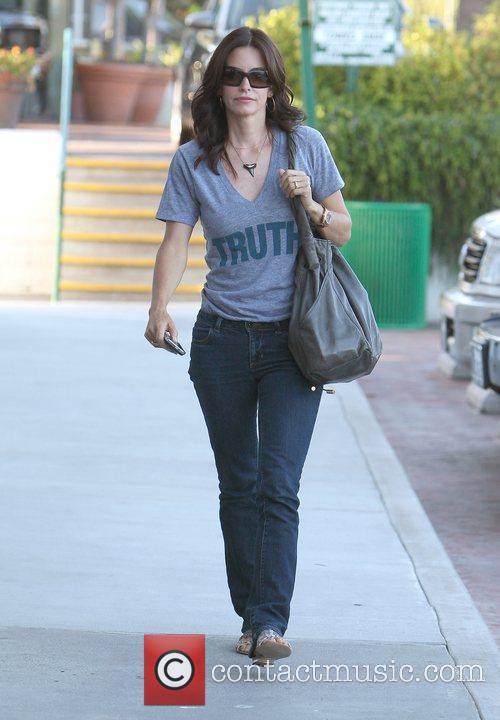 Courteney Cox walking to Nobu in Malibu Los...