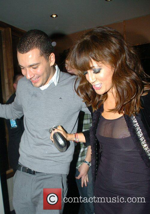 Sheree Murphy leaving the Cricket shop's Christmas party...