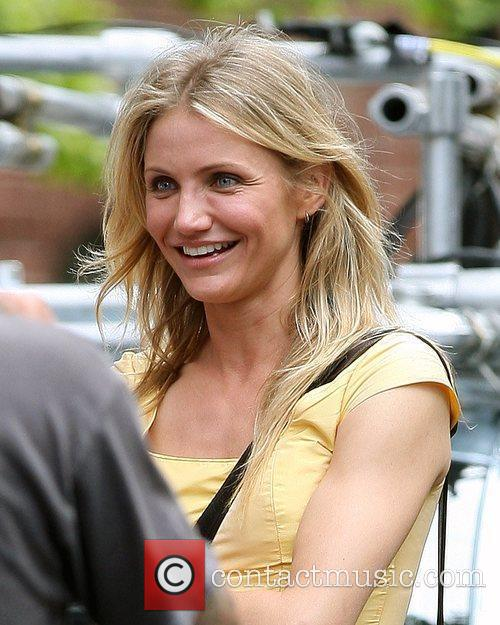 Cameron Diaz on the set of the new...