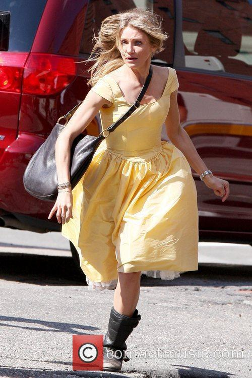 Cameron Diaz  filming on the set of...