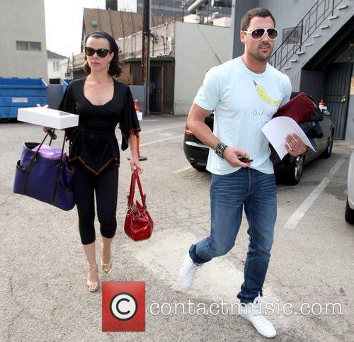 Debi Mazar and Maksim Chmerkovskiy Contestants outside a...