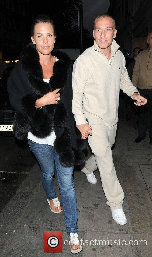 Danielle Lloyd and Jamie O'Hara making their way...