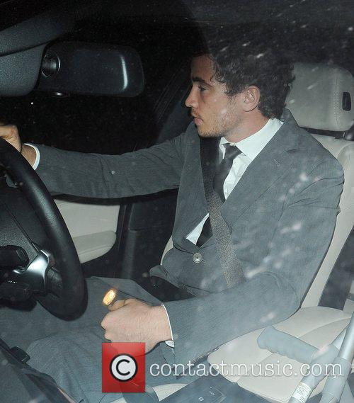 Danny Cipriani leaves the BBC studios with girlfriend...