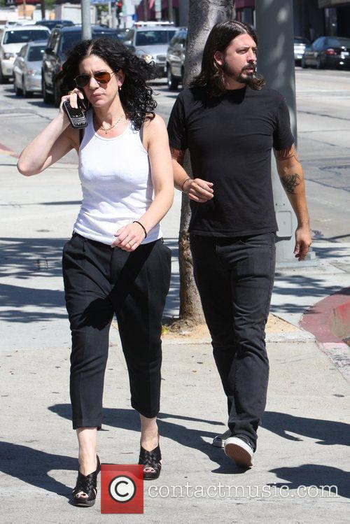 Foo Fighters frontman Dave Grohl out and about...