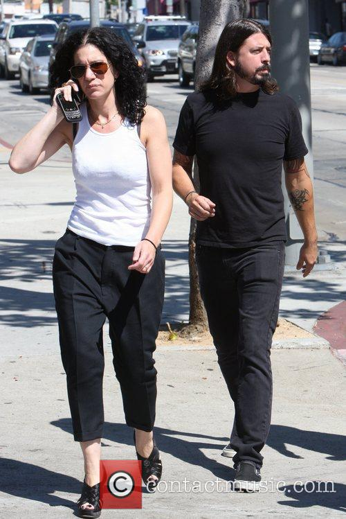 Out and about walking on Sunset Boulevard with...