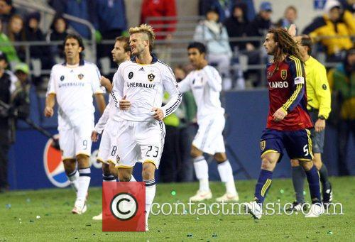 David Beckham LA Galaxy play Real Salt Lake...