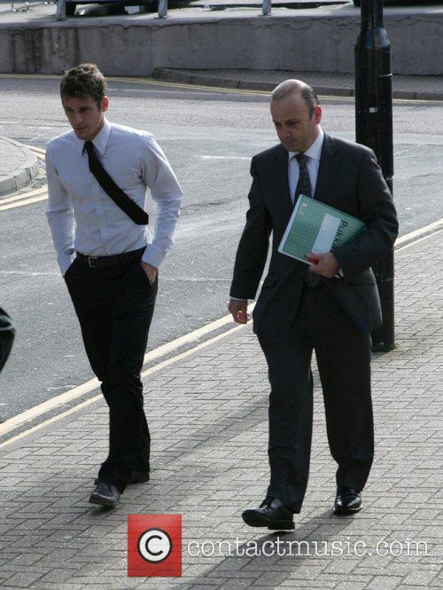David Bentley arriving at St Albans Magistrates' Court...