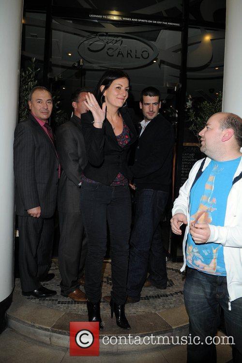 Davina McCall and Matthew Robertson  arrive at...