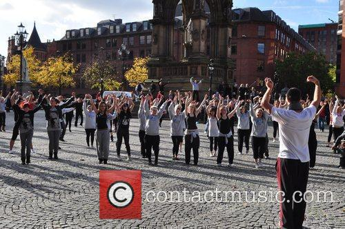 Dancers Davina McCall's new series on Sky One...